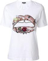 Markus Lupfer embellished lips T-shirt