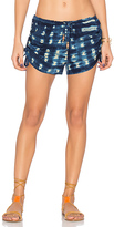 Chaser Drawstring Gathered Shorts in Navy. - size XS (also in )