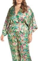 Plus Size Women's Elvi Beleted Floral Komono Jacket