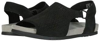 Earth Laveen (Black Soft Buck) Women's Sandals