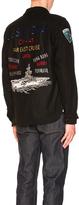 Schott Embellished CPO Wool Shirt in Black.