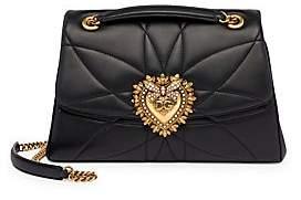 Dolce & Gabbana Women's Devotion Quilted Leather Shoulder Bag