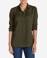Eddie Bauer Women's Tranquil Long-Sleeve Shirt - Solid