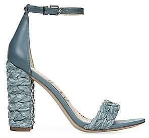 Sam Edelman Women's Yoana Raffia Block-Heel Sandals