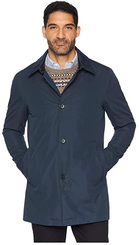 Volwassan Mens Winter Warm Woolen Coat Long Business Jacket Casual Trench Coat Quilty Lined