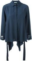 Fendi scalloped collar blouse - women - Cotton/Viscose/Silk/Polyester - 40