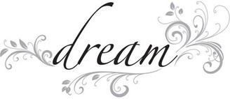 Brewster Home Fashions WallPops Dream Wall Quote