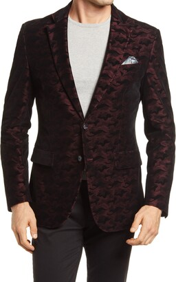 Robert Graham Hoyle Classic Fit Camo Velvet Dinner Jacket