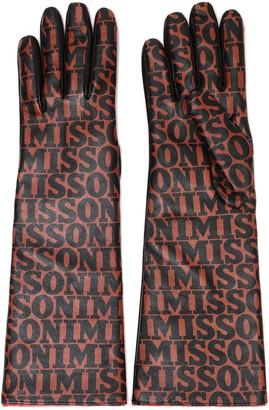 Missoni Printed Leather Gloves