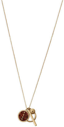 """Lucky Brand Gold-Tone Pave & Acetate Multi-Charm Pendant Necklace, 32"""" + 2"""" extender"""