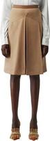 Burberry Leather Waistband Pleated Skirt