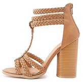 Charlotte Russe Braided T-Strap Sandals