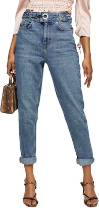 Topshop D-Ring Mom Jeans