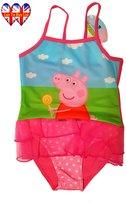 Peppa Pig Swimwear ,Peppa Pig Swimsuit ,Adorable One Piece Swimsuit With Mesh Tutu!