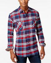 Weatherproof Vintage Men's Contrast Cuff Plaid Flannel Shirt, Classic Fit