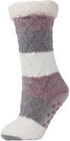 Me Moi Memoi Tranquillity Tri-Color Slipper Socks