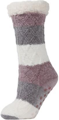 Me Moi Tranquillity Tri-Color Slipper Socks