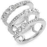 Michela Rhinestone Spiral Ring