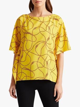 Ralph Lauren Ralph Anielka Short Sleeve Blouse, Dandelion Fields Yellow