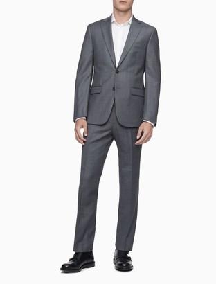 Calvin Klein Slim Fit Heather Grey 2-Button Jacket