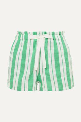 Lemlem Net Sustain Doro Striped Cotton-blend Gauze Shorts - Light green
