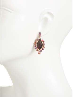Made In The Uk 18k Rose Gold Crystal Haze Drop Earrings