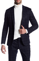 Antony Morato Windowpane Two Button Notch Lapel Jacket