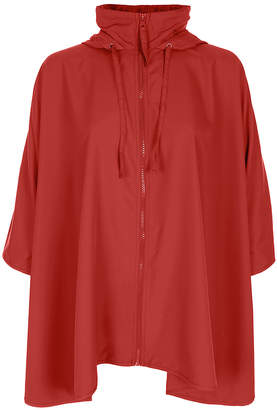 Capelli New York Women's Rain Coats Red - Red Loose Rain Poncho - Women