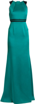 Roland Mouret Cavell lace-insert satin gown