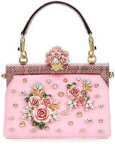 Dolce & Gabbana Vanda Embellished Rose Top-Handle Bag