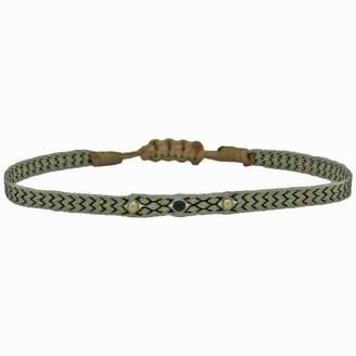 Black Diamond Leju London Wrap Bracelet With Gold Filled Detail