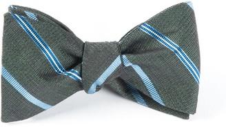 Tie Bar Editor Stripe Dark Green Bow Tie