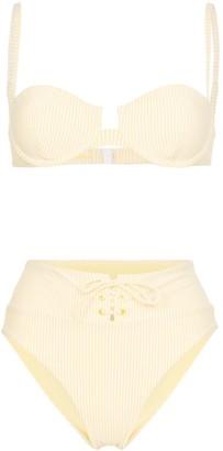 Onia Striped Seersucker Bikini