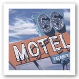 "McGaw Graphics 66 Motel by Anthony Ross 12""x12"" Art Print Poster"