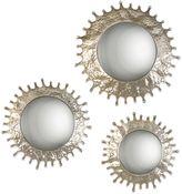 Uttermost Rain Splash Round Mirrors in Stone Grey (Set of 3)