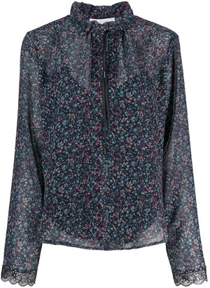 See by Chloe Floral Haze Georgette Blouse
