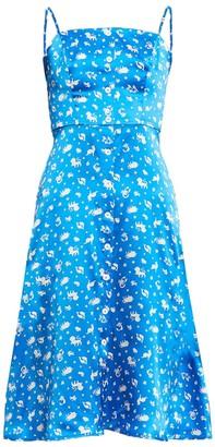 HVN Atlanta Button Front Dress, Turquoise Zodiac
