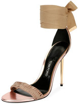 Tom Ford Patent Ankle-Tie 105mm Sandal