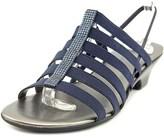 Karen Scott Estevee Open-toe Canvas Slingback Sandal.
