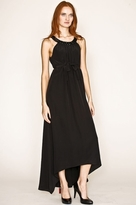 Twelfth St. By Cynthia Vincent by Cynthia Vincent Beaded Halter Cascade Dress in Black