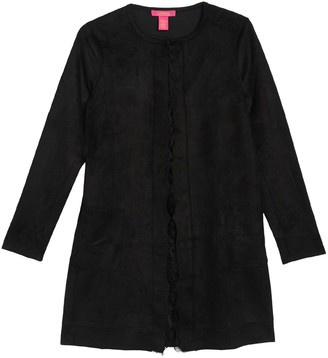 Catherine Malandrino Long Sleeve Faux Suede Cardigan