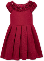 Bonnie Jean Quilted-Rose Floral-Trim Dress, Little Girls (2-6X)