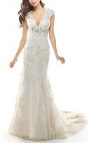 Maggie Sottero Lace White Wedding Dress