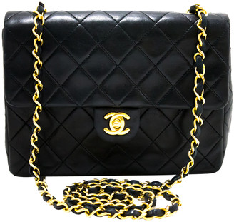 Chanel Black Quilted Leather Medium Flap Shoulder Bag