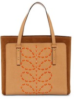 Orla Kiely Laced Stem Suede Leather Tillie Tote