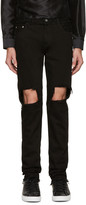 Christian Dada Black Distressed Skinny Jeans