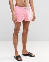 Asos Swim Shorts In Pink Super Short Length