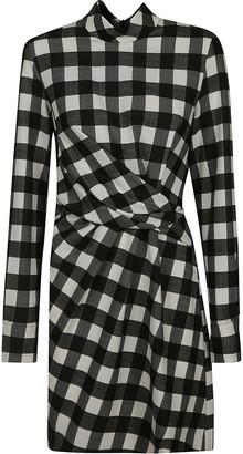 MSGM Check Gathered Dress