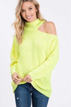 Style U One Shoulder Cut Out Sweater