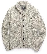 Todd Snyder Shawl Knit Cardigan in Beige